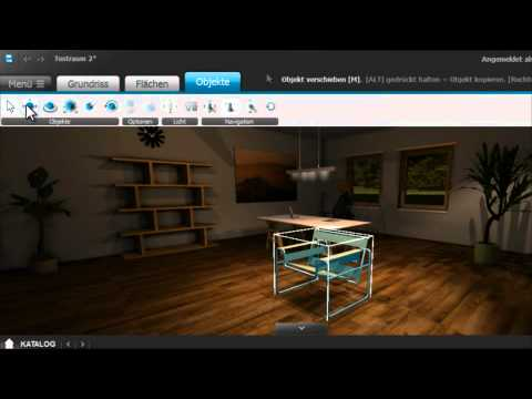roomeon 3d planer tutorial 6 objektattribute youtube. Black Bedroom Furniture Sets. Home Design Ideas
