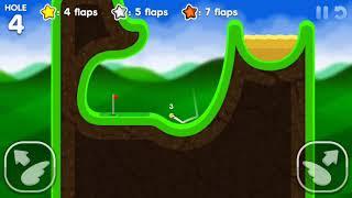 Flappy Golf 2 GOLF LAND HOLE 1-9 Gold Star Walkthrough