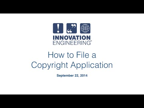 How to File a Copyright Application