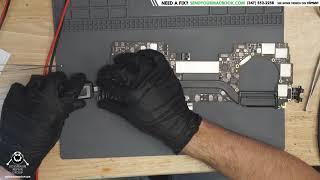 Macbook Pro touchbar logic board repair - no power