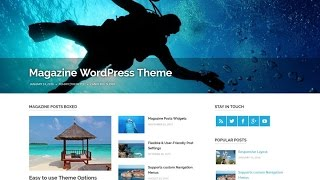 Poseidon Free WordPress Theme Review With Download Link