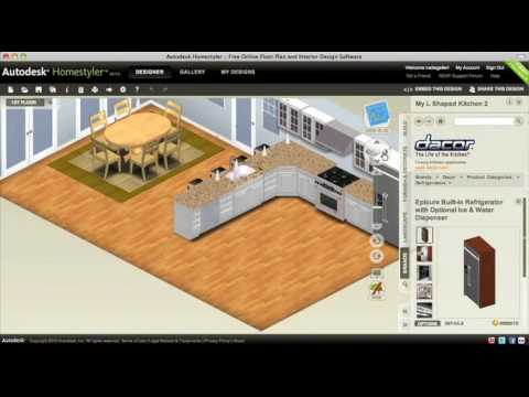 Choosing Floors Appliances And Countertops For Your Kitchen Remodel Autodesk Homestyler You