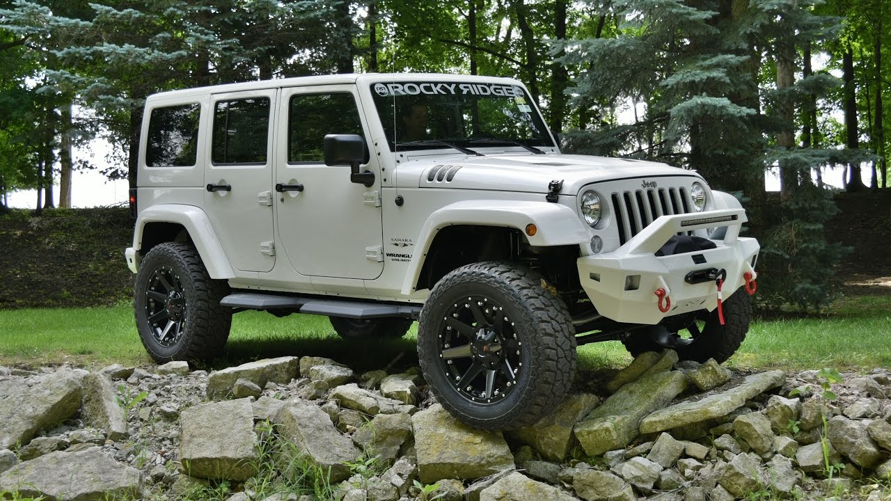 supercharged jeep wrangler unlimited sahara - rocky ridge