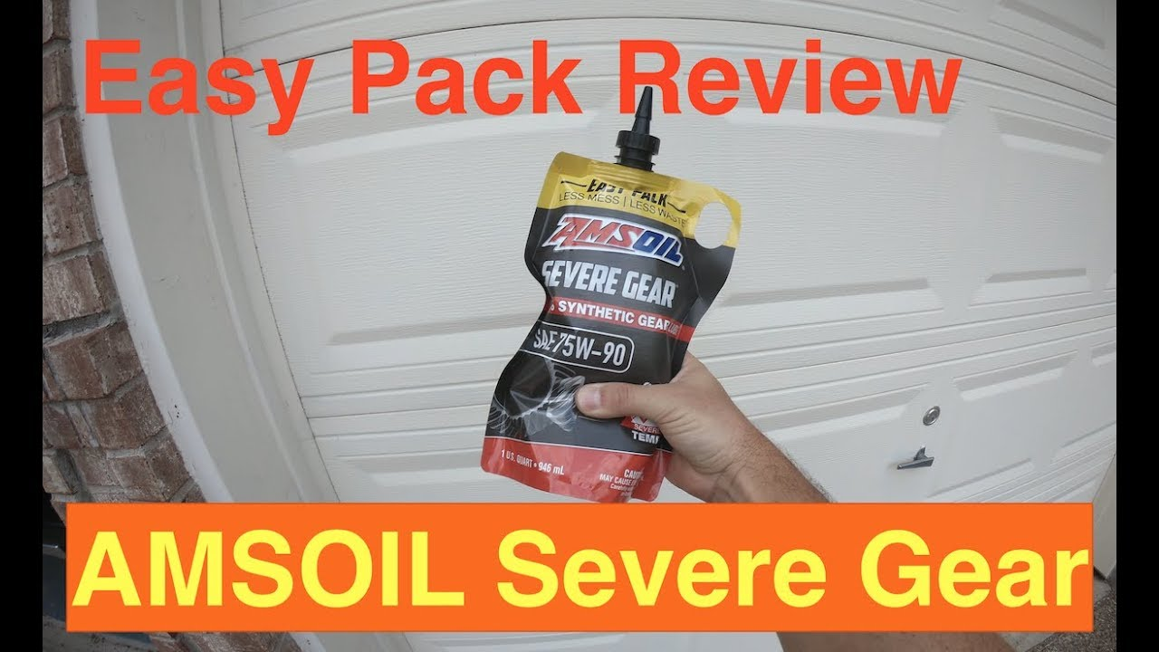 Amsoil Severe Gear 75w 90 Amazon Com >> Amsoil Severe Gear Easy Pack Review
