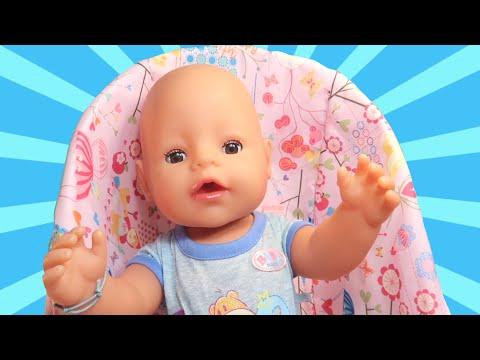 Утро и вечер Беби Бон - Играем вместе с мамой в Куклы Пупсики: кормит, купается и укладывает спать