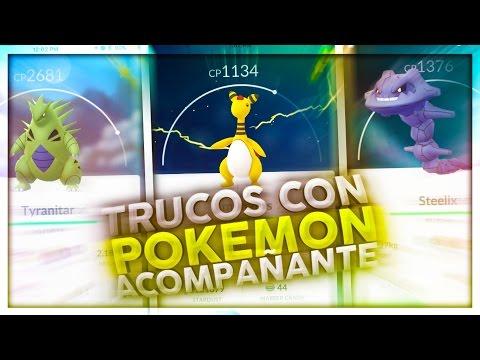 TRUCO CON EL POKEMON ACOMPAÑANTE Y EVENTO DE PIEDRA