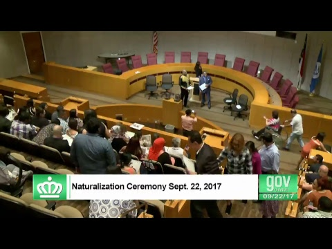 USCIS Citizenship Ceremony September 22, 2017