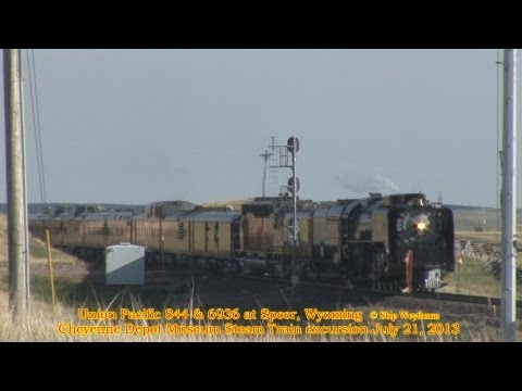 Union Pacific 844 spins out at Speer Water Tower