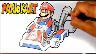 How to Draw Mario from Mario Kart - Easy Things to Draw