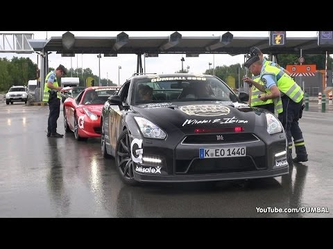 Gumball 3000 - French Police stops Gumballers!