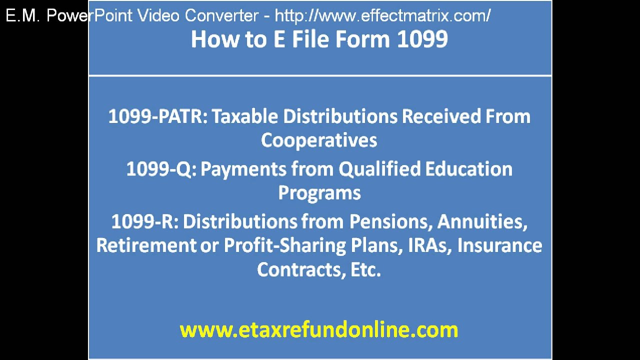 How To E File Form 1099 - YouTube