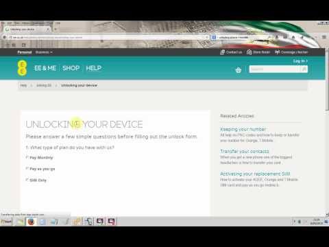 Unlocking iPhone lock to EE/Orange and T-Mobile UK