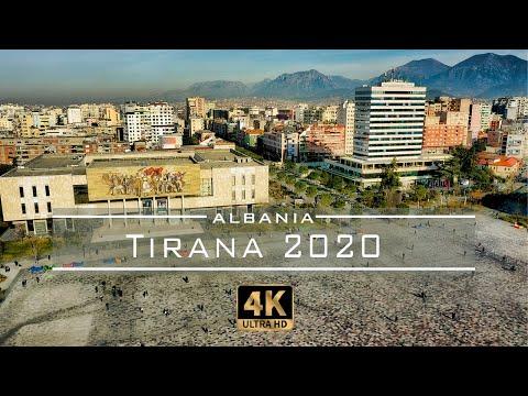 Tirana 2020 - 🇦🇱 Albania [Drone Footage] 4K