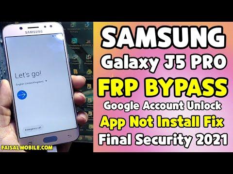 Samsung J5 Pro Frp Bypass 2021 || Galaxy J530f Google Account Bypass || App Not Install Fix || No Sim 100% Done