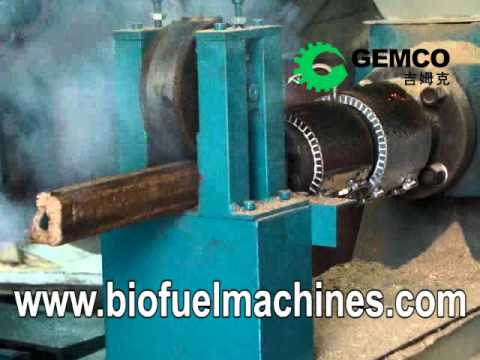 Making biomass briquettes by GEMCO biomass briquetting machines holds giant profit potential