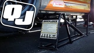 QuickJack at the Track - Portable Racing Lift by Ranger Products