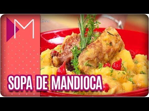 Desafio da Chef: Sopa de mandioca com bisteca de porco - Mulheres (12/03/18)