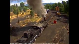 7/10/2018 The 8 car train 216 departs Chama, NM