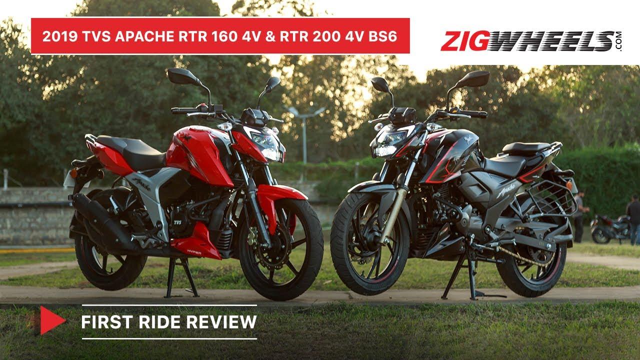 Bs6 Tvs Apache Rtr 160 4v Rtr 200 4v First Ride Review Specs I