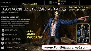 MKX UPDATE 1.10 RELENTLESS JASON VOORHEES SPECIAL ATTACKS (IOS/ANDROID)