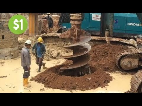 This Is The Way Foreigners Work For Foundation Piles For High-Rise Buildings - Construction Of Pile