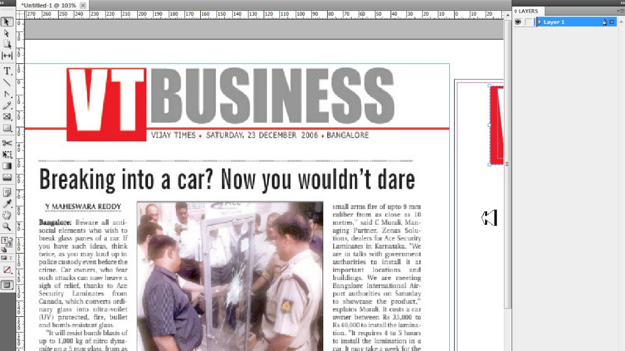 how to make a newspaper layout in indesign cs6