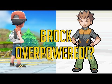 Brock Overpowered in Pokemon Let's Go Pikachu and Eevee?