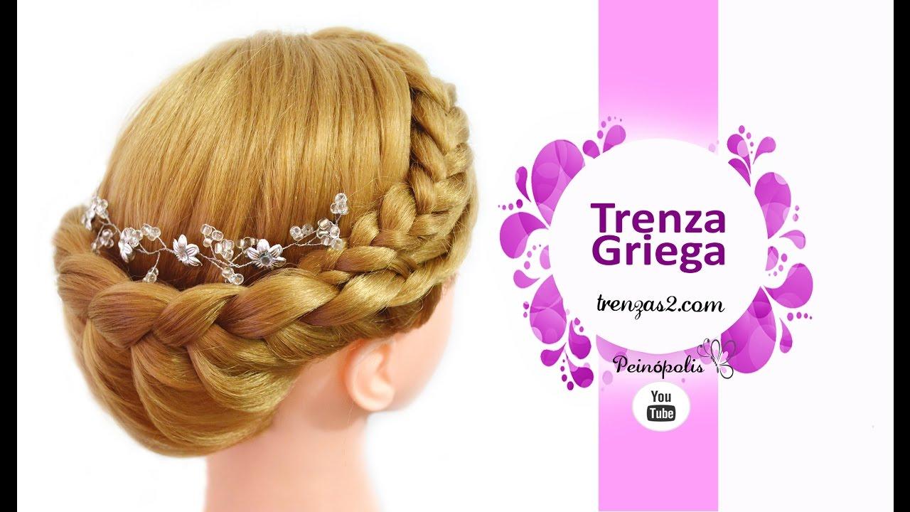 Trenza griega con peinados de fiesta para cabello largo - Peinados fiesta faciles ...