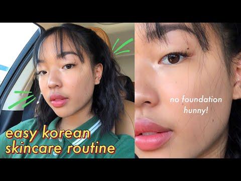easy korean skincare routine for oily skin ?☁️ thumbnail