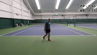 Pure Baseliner vs. Serve & Volley (USTA 4.0+ Full Tennis Match)
