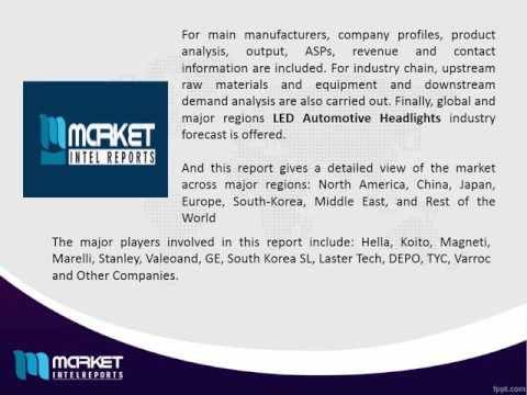 Global LED Automotive Headlights Industry Market Outlook Till 2021 | Revenue Models
