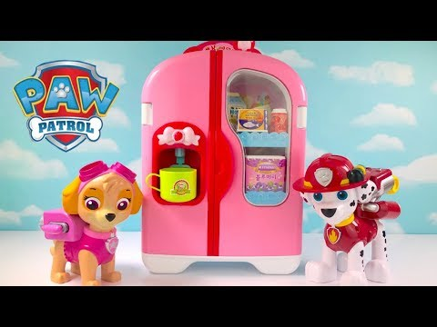 Best Learning Colors Video with Paw Patrol Refrigerator Fridge Supermarket Shopping | Fizzy Fun Toys