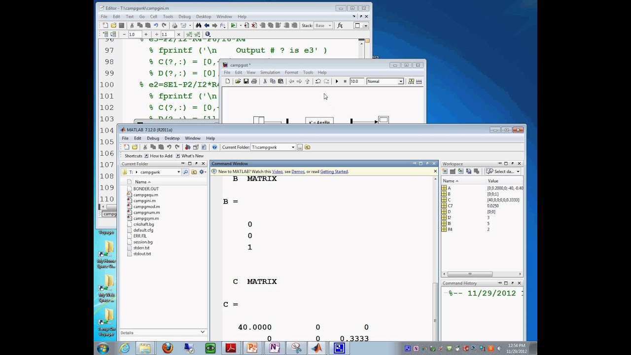 Campg simulink simulation using the simulink state space block 29112012_1259_38