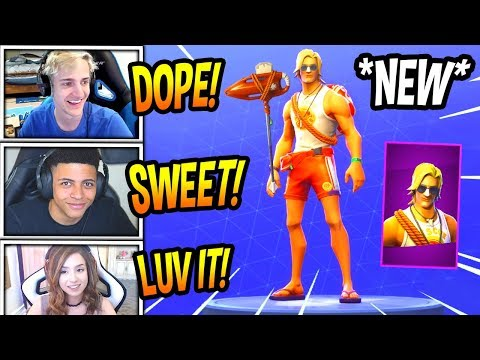 STREAMERS REACT TO *NEW* SUN TAN SPECIALIST SKIN! *EPIC* Fortnite FUNNY & SAVAGE Moments