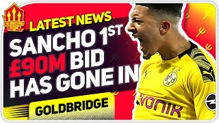 Sancho Forcing Move! United 90 Million Bid! Man Utd Transfer News