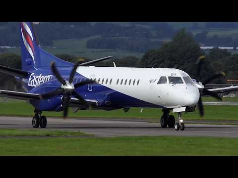 Eastern Airways Saab 2000 - Glasgow Airport - 9-SEP-17