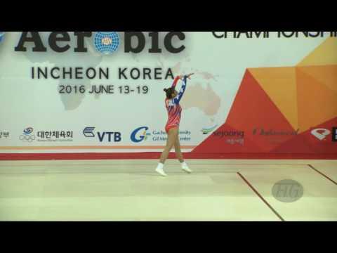 ONAL Burcu (TUR) - 2016 Aerobic Worlds, Incheon (KOR) - Qualifications Individual Women