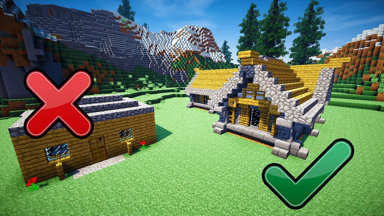 House Building Tips 5 Easy Tips To Build Better In Minecraft  Youtube