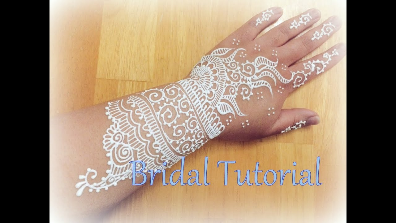 Bridal Mehndi In Jalandhar : White henna bridal design turorial freehandmehndi youtube