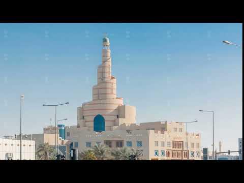Qatar Islamic Cultural Centre timelapse in Doha, Qatar, Middle-East