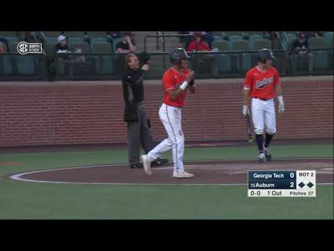 Auburn University Sports - Auburn Baseball vs Georgia Tech Highlights