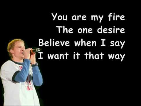Backstreet Boys-I Want It That Way Lyric Video.wmv