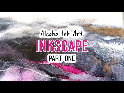 (PART 1) Alcohol Ink - Abstract inkscape with painting, glitter and resin
