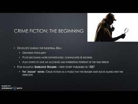 Historical background and development of the crime fiction genre