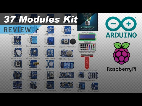 37 Sensors And Modules Kit For Raspberry Pi And Arduino