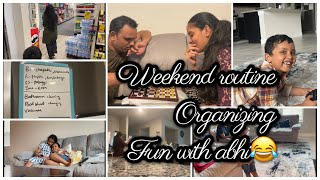 Now routine is all set!😍|| my first weekend routine vlog||House managing|Don't miss abhi's fun😂|