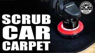 how to clean and scrub car carpet professionally chemical guys
