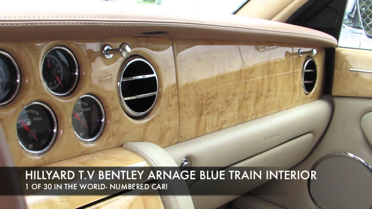 Hillyard custom rimtire bentley arnage blue train complete hillyard custom rimtire bentley arnage blue train complete interior vanachro Images