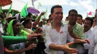 Manuel Velasco en La Concordia, Chiapas.
