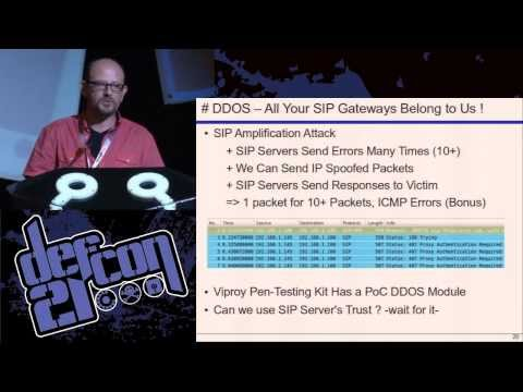 DEF CON 21 - Fatih Ozavci - VoIP Wars Return of the SIP